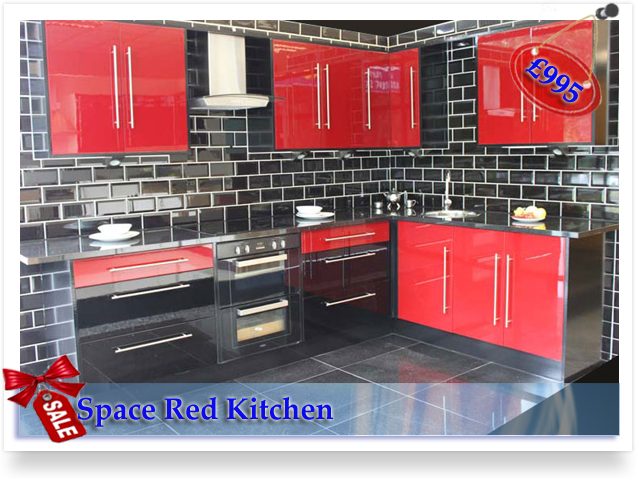 Fitted kitchen prices home for Red fitted kitchen